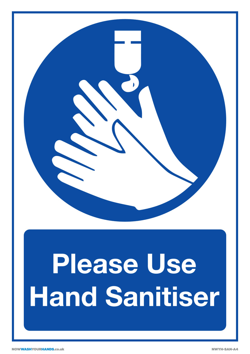 Please Use Hand Sanitizer x5