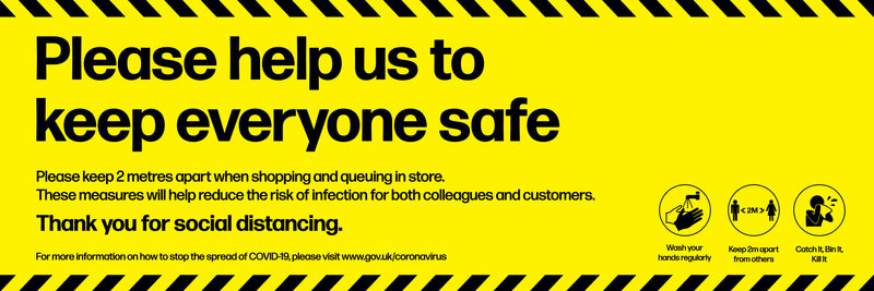 Please Help Us Keep Everyone Safe PVC Vinyl Banner