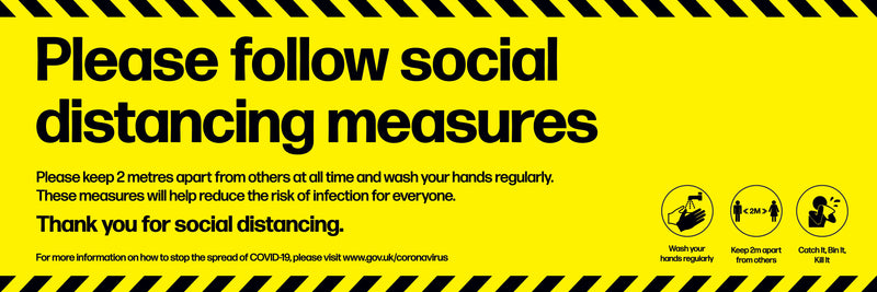 Please Follow Social Distancing Measures PVC Vinyl Banner