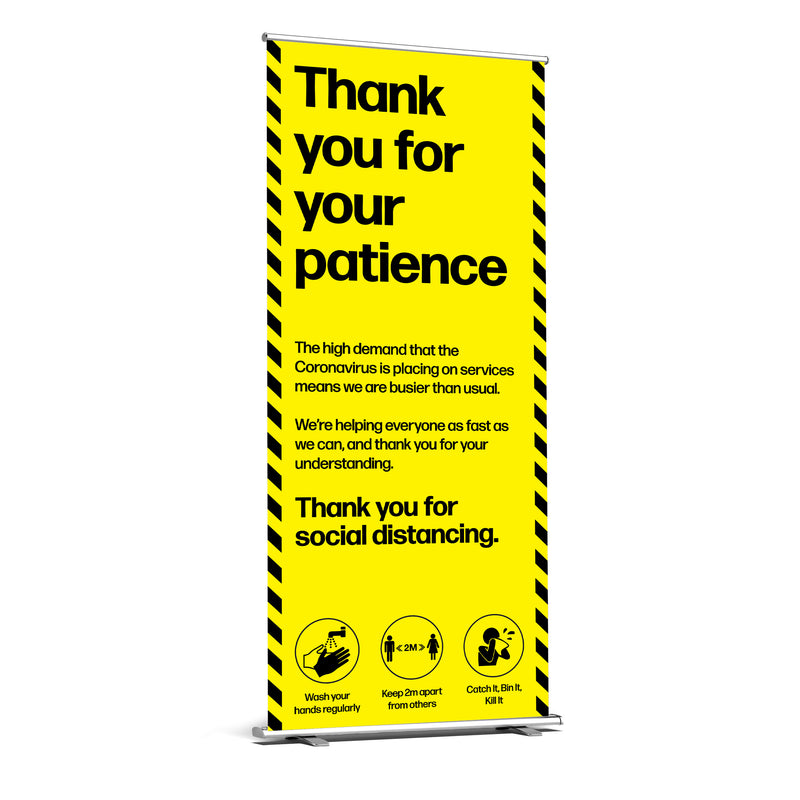 Thank You For Your Patience Roller Banner
