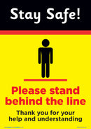 Stay Safe - Please Stand Behind The Line