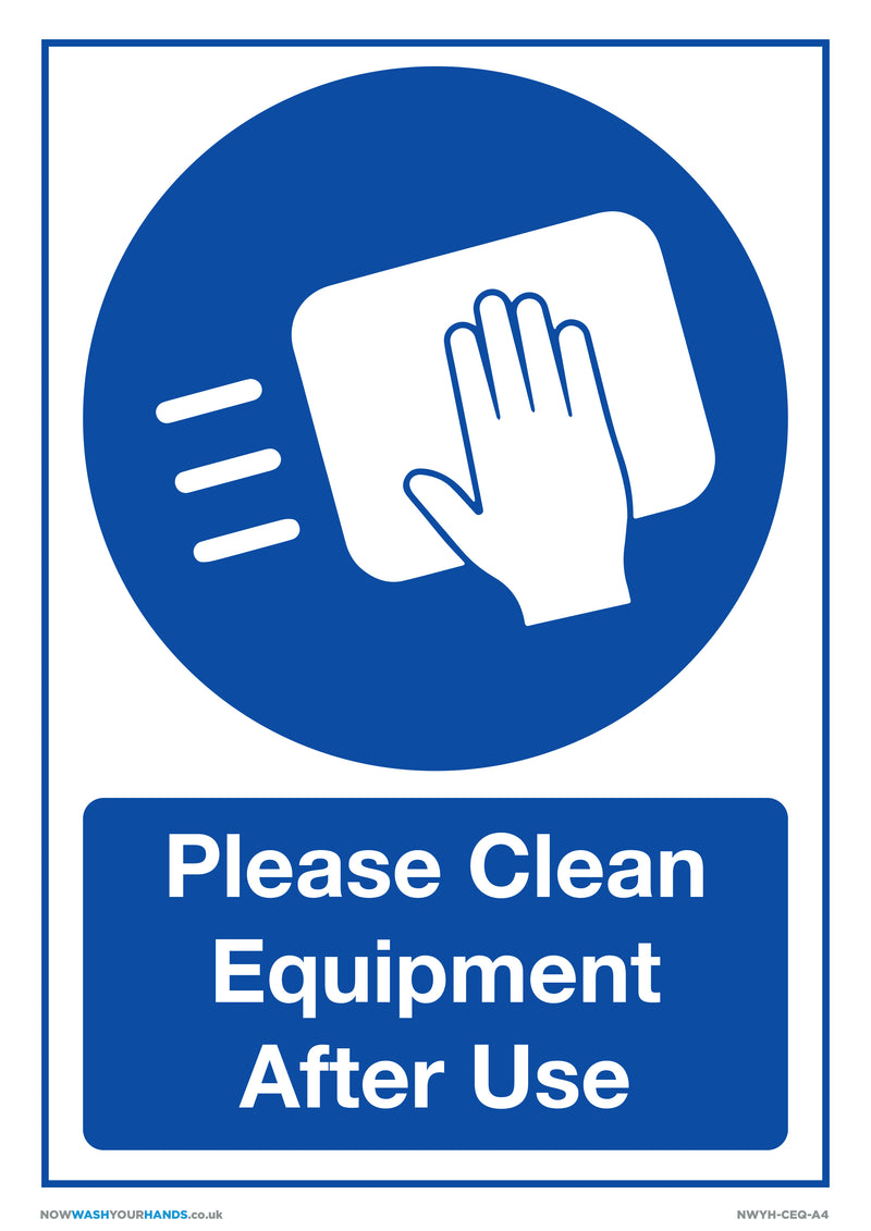 Please Clean Equipment After Use