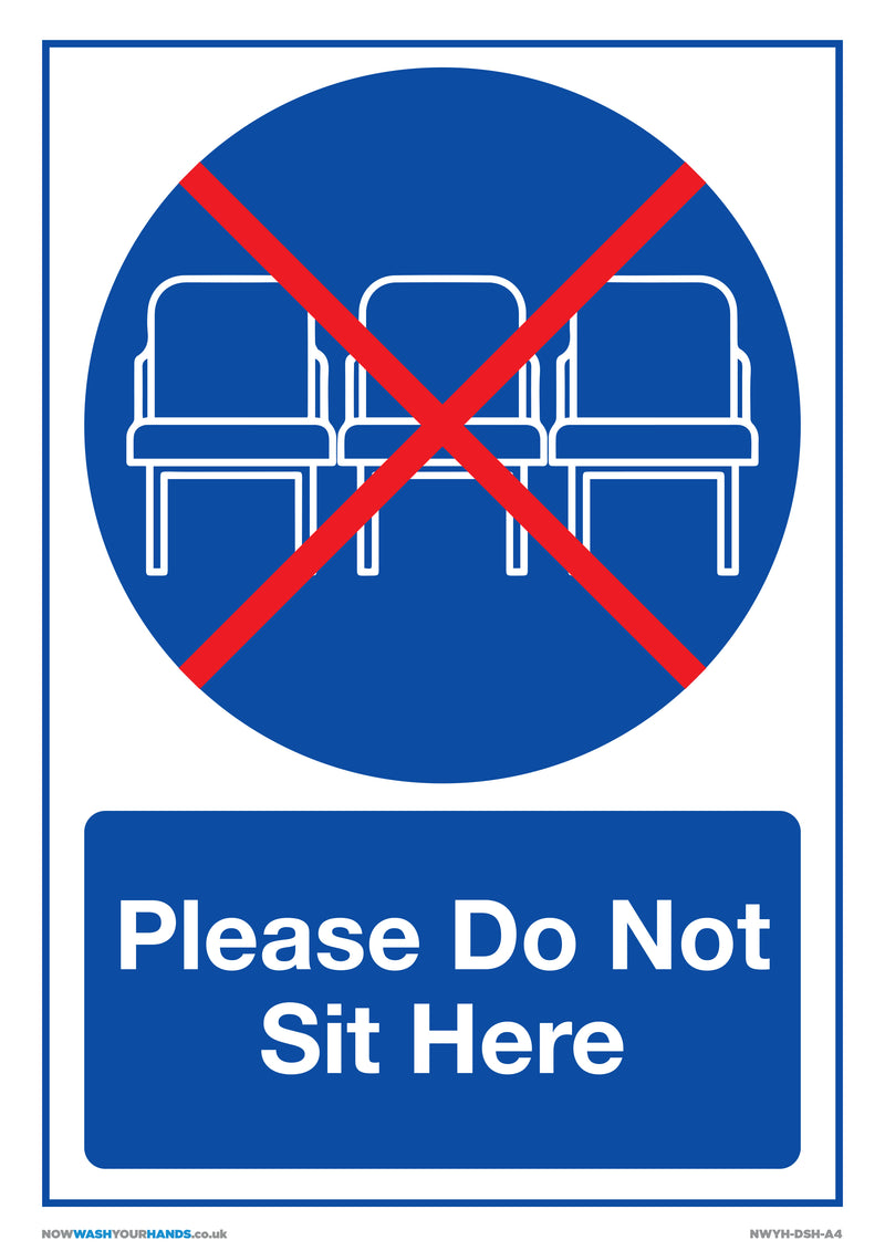 Please Do Not Sit Here x5