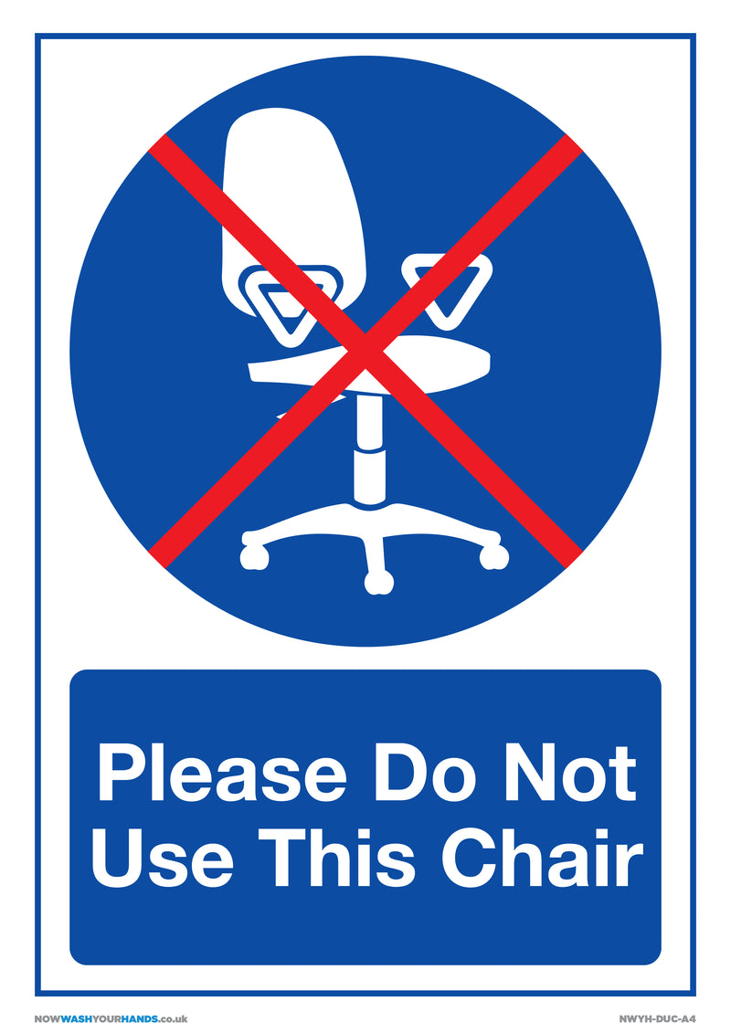 Please Do Not Use This Chair x5