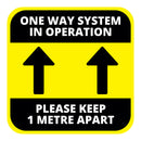 One Way System Floor Graphic - 400mm Square - Pack of 10