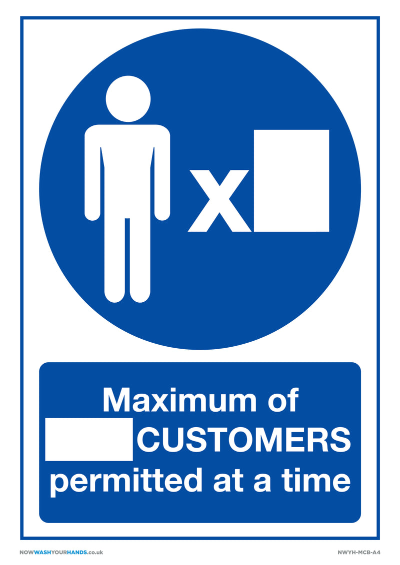 Maximum Number of Customers Blank x5