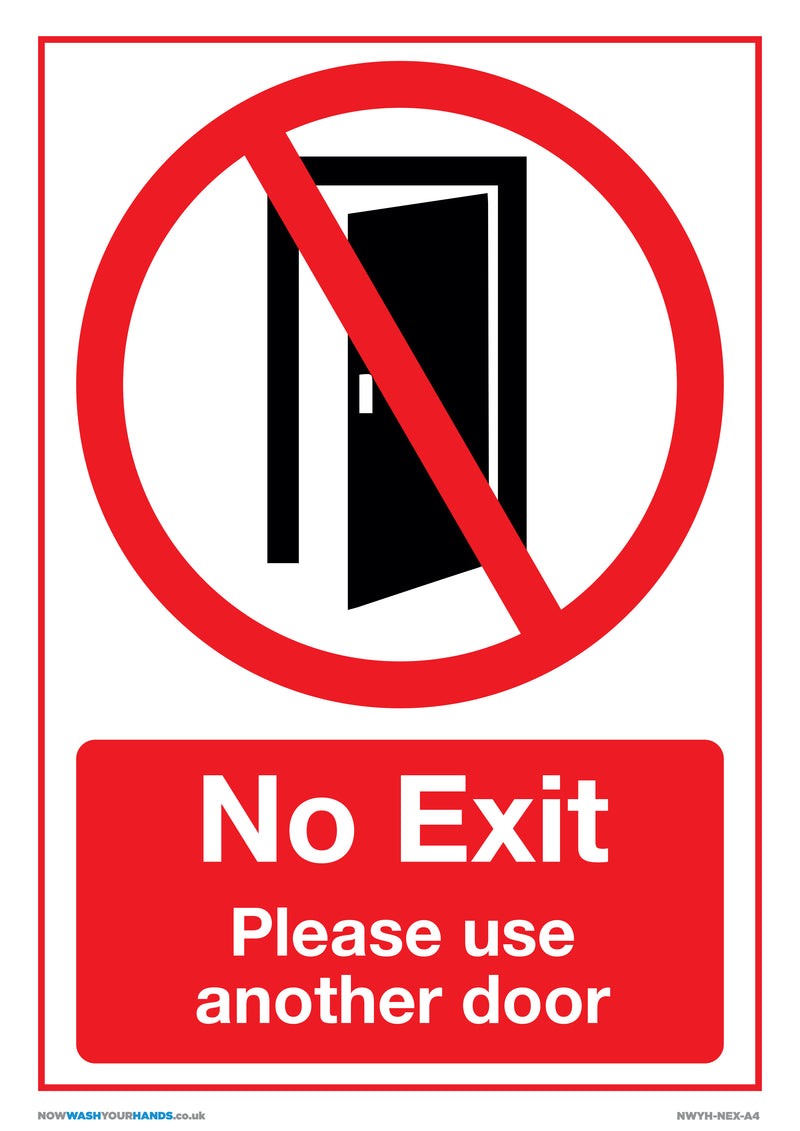 No Exit - Please Use Another Door x5