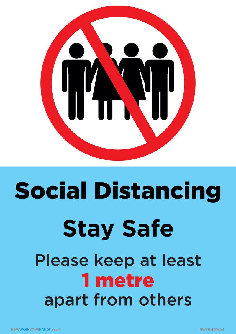 Social Distancing - Stay Safe x 5
