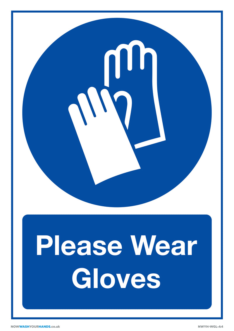 Please Wear Gloves x5