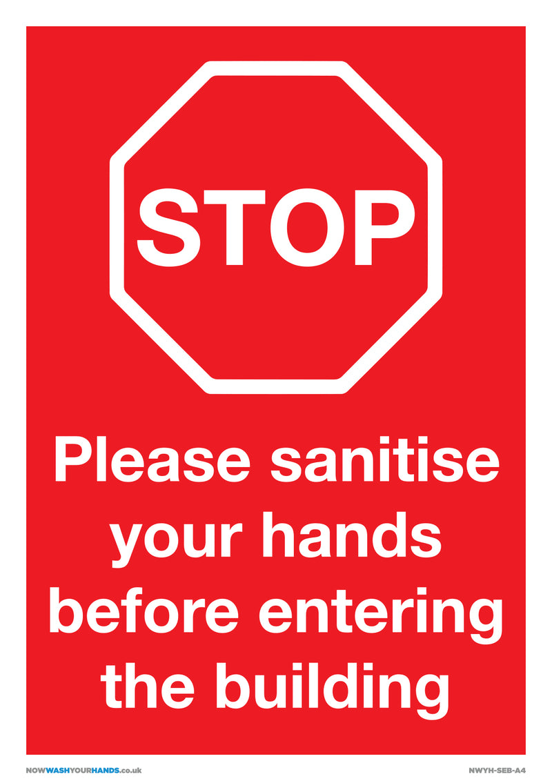 Sanitise Hands Before Entering