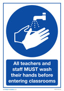 Teachers and Staff Must Wash Hands