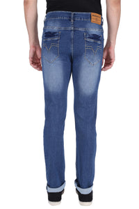 Stretchable Slim Men Blue Jeans