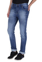 Load image into Gallery viewer, Stretchable Slim Men Blue Jeans
