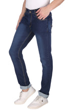 Load image into Gallery viewer, Nebraska Men's Blue Slim Fit Stretchable Jeans