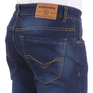 Nebraska Men's Blue Slim Fit Stretchable Jeans