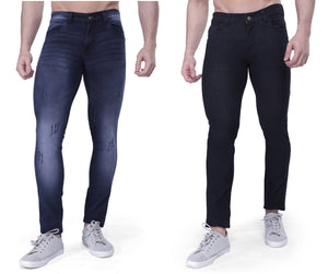 Nebraska Slim Men Black Jeans (pack of 2)