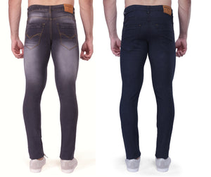 Nebraska Slim Men Multicolor Jeans(pack of 2)