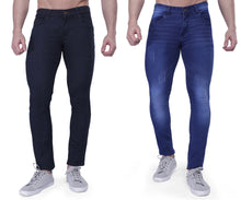 Load image into Gallery viewer, Nebraska Slim Men Multicolor Jeans(pack of 2)