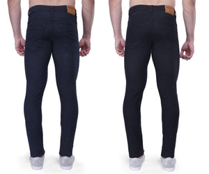Nebraska Slim Men Black Jeans(pack of 2)