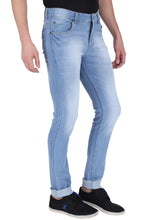 Load image into Gallery viewer, NEBRASKA Stretchable Slim Men Light Blue and Dark Blue Jeans  (Pack of 2)