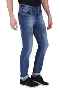 NEBRASKA Stretchable Slim Men Multicolor Jeans  (Pack of 2)