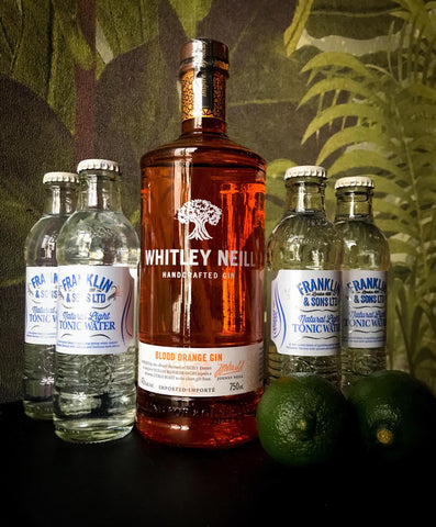 Whitley Neill Blood Orange Gin + 4 Franklin & Sons Tonic Water