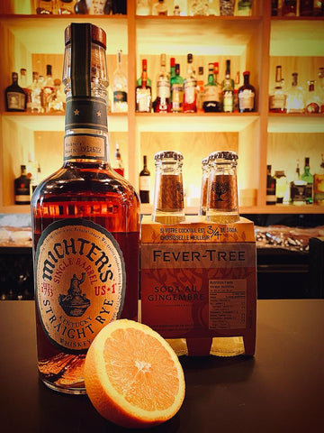 Michter's Straight Rye + 4 Fever Tree Ginger Beer