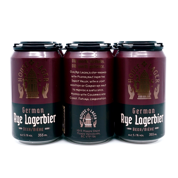 HOUSE OF LAGER // German Rye Lagerbier (6-pack) - 355ml cans