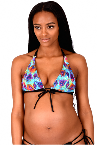 Nursing Swimwear | Hologram Maternity Bikini Top