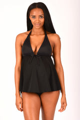 Black Maternity Swimwear Top with Nursing Clips - Bikini Mama's - 3