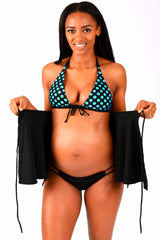 Fun Flirty Polka Dot Maternity Nursing Swimwear Top - Bikini Mama's - 4