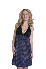 B&W Polka Dot Maternity Nursing Dress - Bikini Mama's - 2