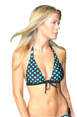 Extra Support Push Up Polka Dot Bikini Top