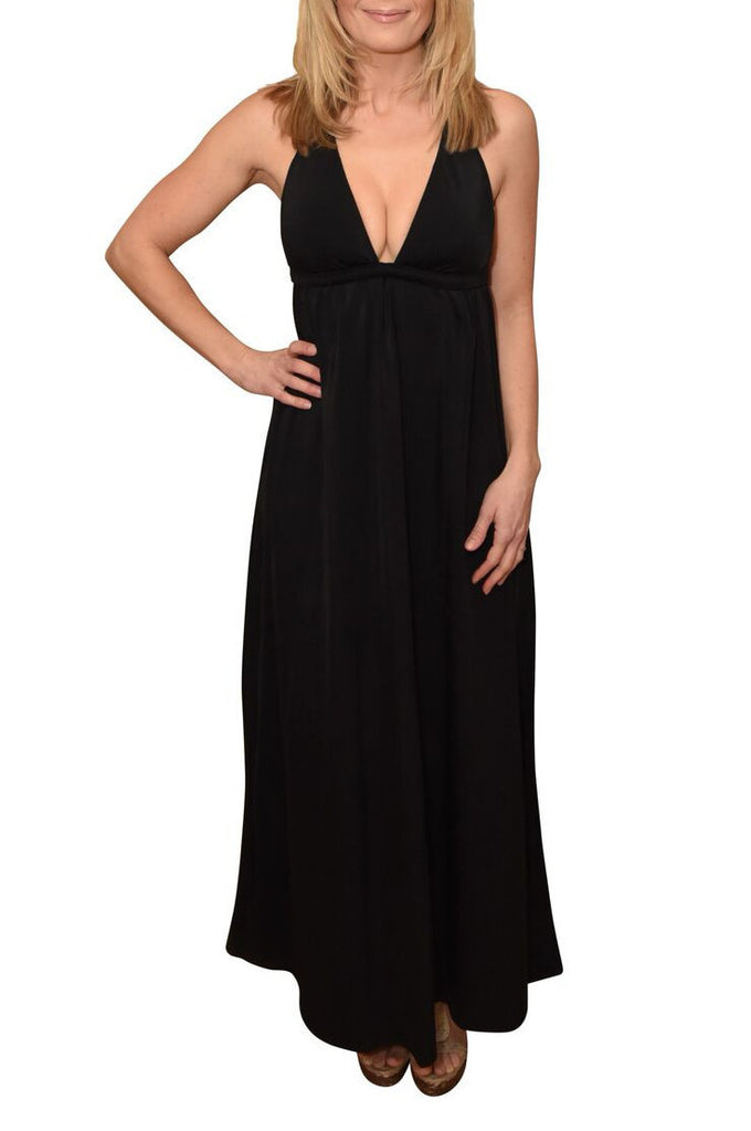 Black Maternity to Nursing Maxi dress - Bikini Mama's - 1