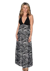 Peacock Maternity Nursing Maxi dress - Bikini Mama's - 2