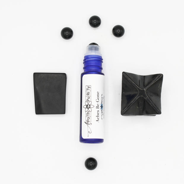 Aches Be Gone - Black Onyx Crystal Aromatherapy Roll-on 1