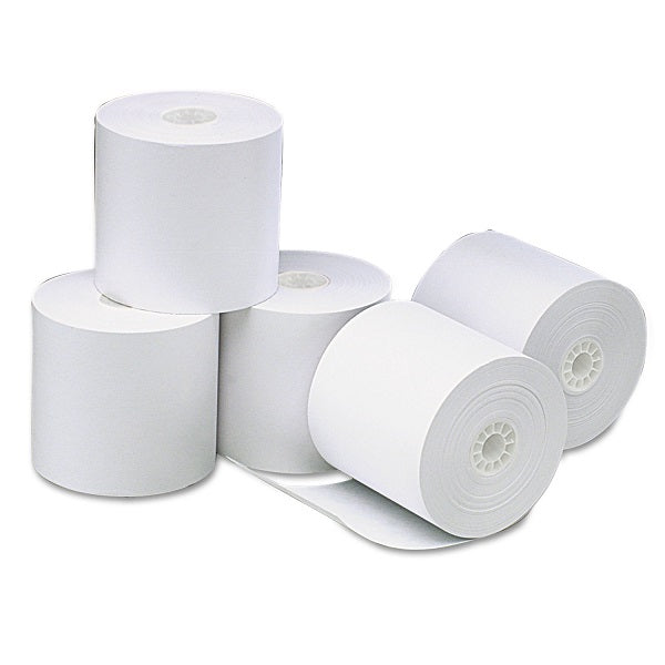 Thermal Receipt Paper Rolls 3 1/8' (80mm) x 220', Box of 50