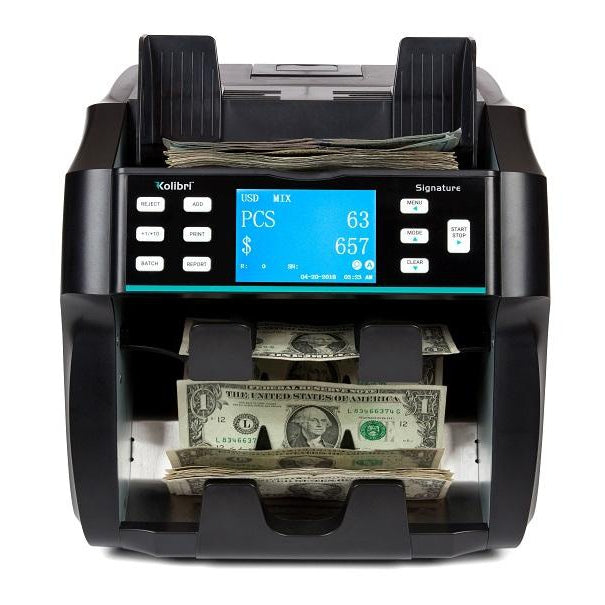 Kolibri Signature Dual Pocket Mixed Money Counter