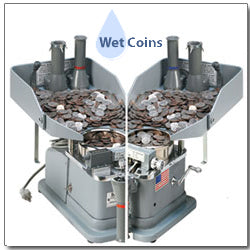 KLOPP Model KK Electric or Manual Coin Counter, Wrapper and Bagger