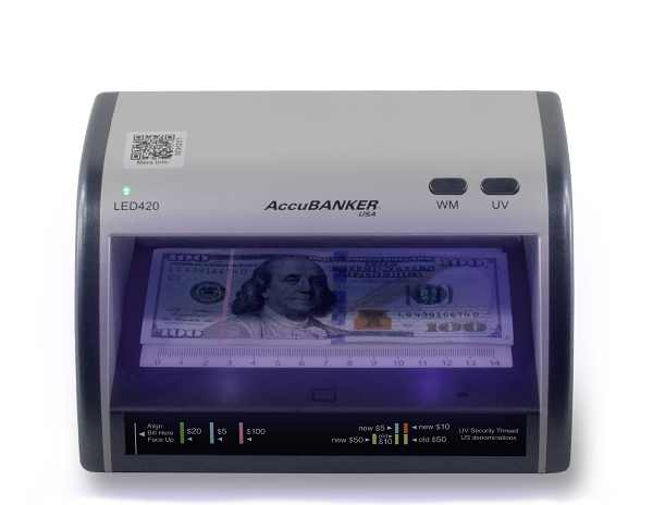 AccuBANKER LED420 Counterfeit Bill and Card Detector