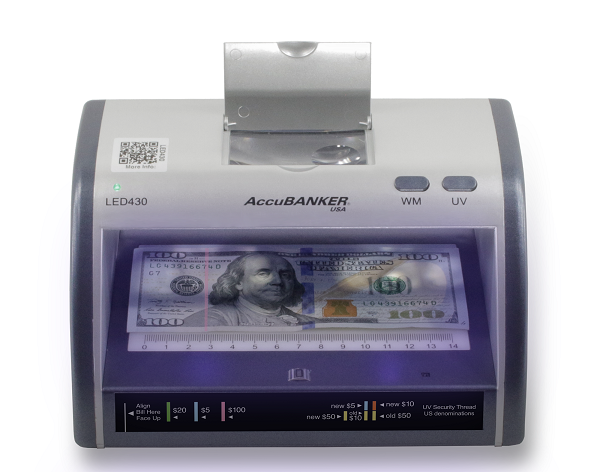 AccuBANKER LED430 Counterfeit Bill and Card Detector