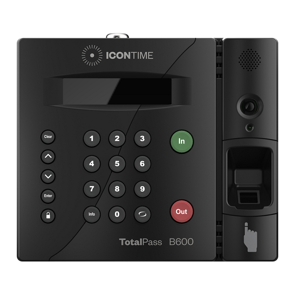 Icon Time TotalPass Biometric Fingerprint Employee Time Clock