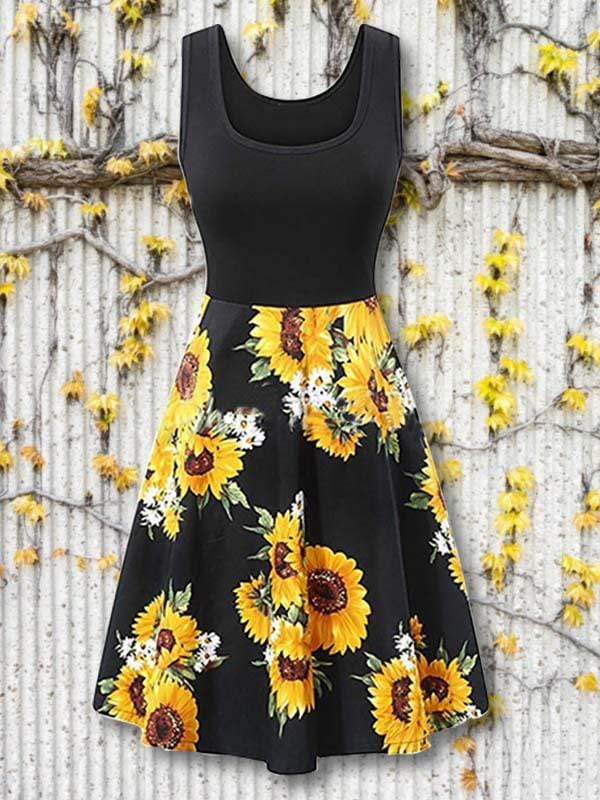 Women Hot Sale Floral Print Short Sleeve Maxi Dress