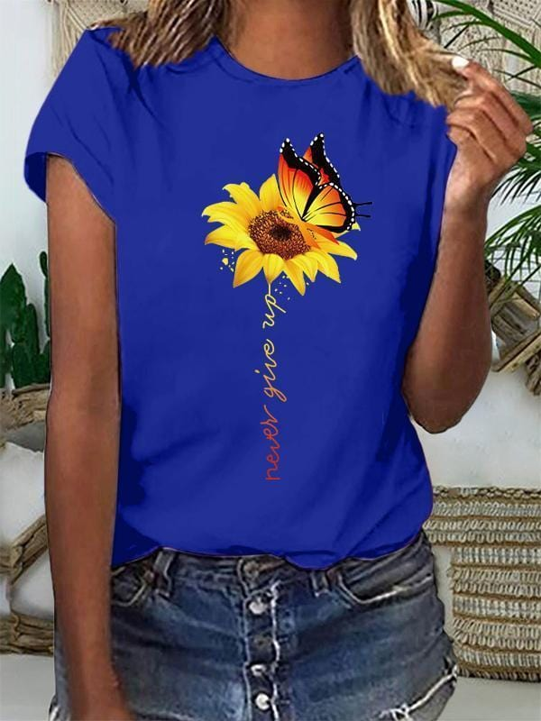 Women Short Sleeve O-Neck T-shirt