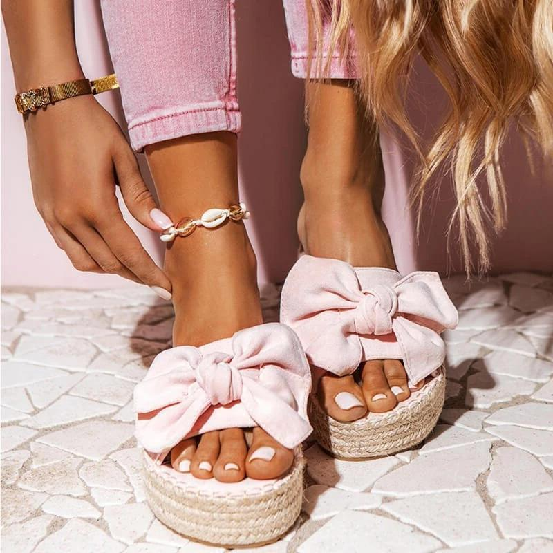 Women Bowknot Summer Slip-on Slipper