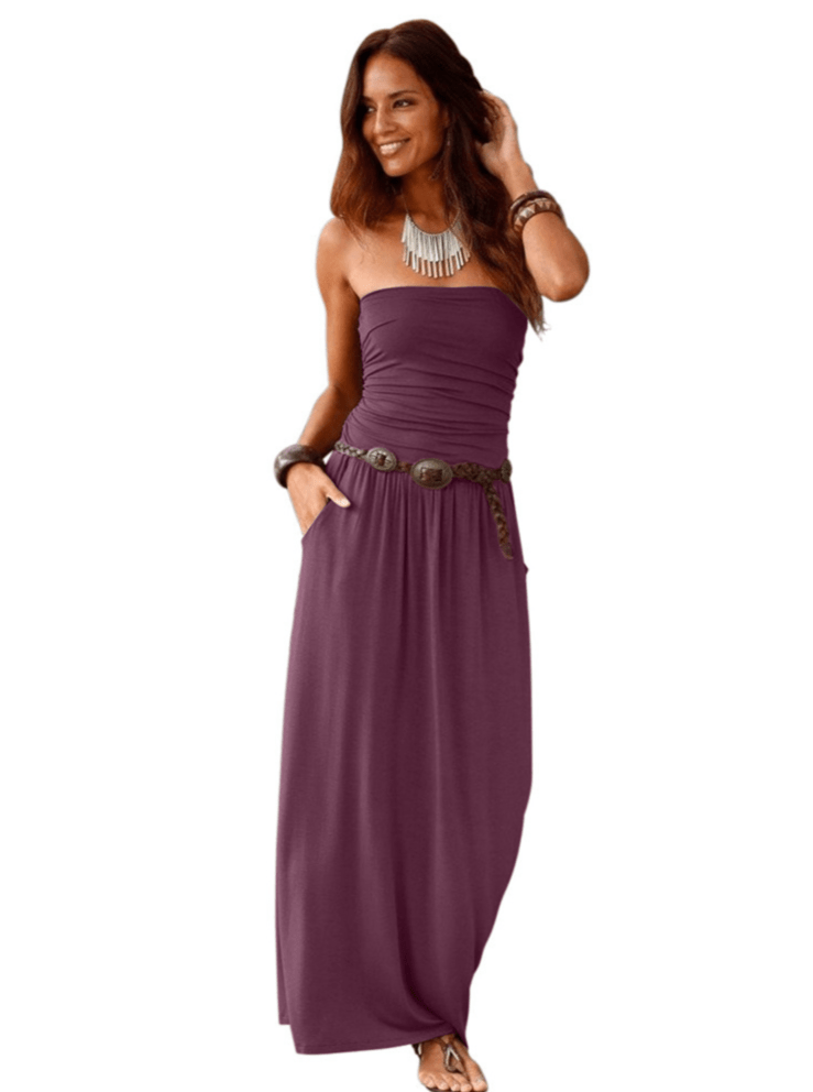 Hot Sale Strapless Maxi Dress