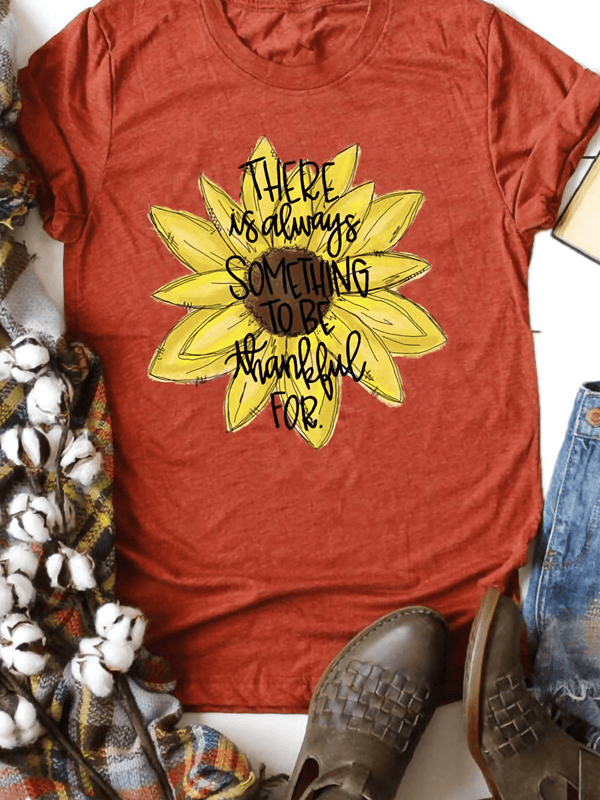Hot Sale Women Summer Sunflower Print T-shirt