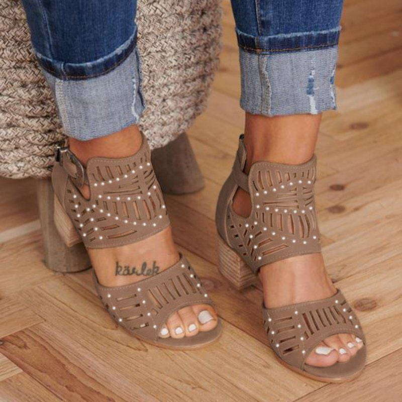 Women Cut-out Slip-on Sandals