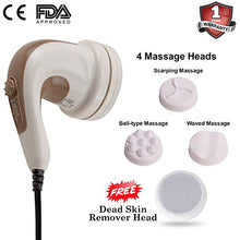 Load image into Gallery viewer, Lifelong LLM27 Electric Handheld Full Body Massager (Brown)