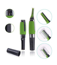 Load image into Gallery viewer, funky stranky All-In-One Personal Micro Touches Touch Ear Nose Neck Eyebrow Precision Hair Trimmer (Green)